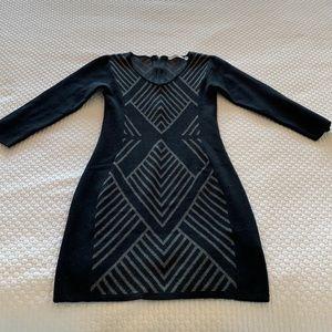 Dex Bodycon Geometric Print knit mini dress